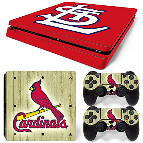 Louis Cardinals Video - GoldenDeal PS4 Slim Console and DualShock 4 Controller Skin Set - Baseball MLB - PlayStation 4 Slim