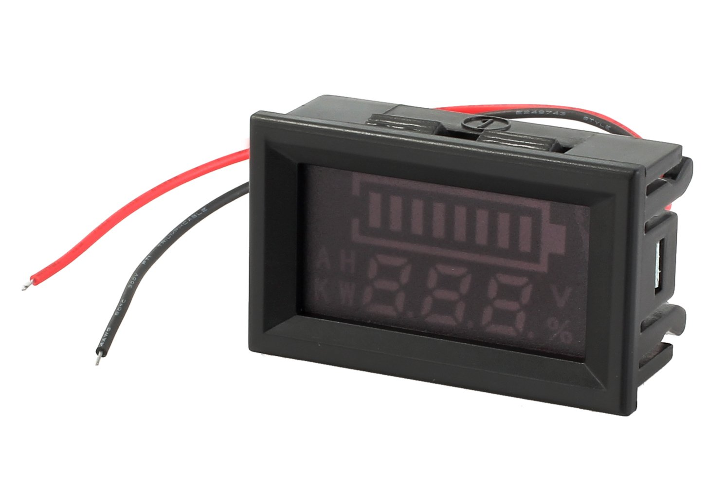 Tanice 12/24V Acid Lead Lithium Battery Indicator Capacity Intuitive Voltmeter Digital LED Tester Monitor Checker