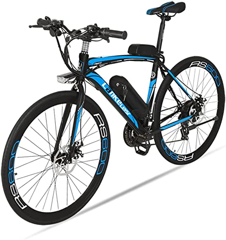 Extrbici bicicleta eléctrica RS600 MTB Bicicleta de montaña 700C x 28C-40H aleación de aluminio marco 240W 36V 20A Shi-mano 21 velocidades con suspensión delantero 3 PAS doble freno de disco mecánico: Amazon.es: