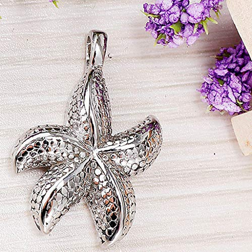 - Stainless Cremation Pet Urn Keepsake Memorial Starfish Charms Pendant Silver