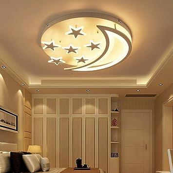 Miluce Creative Stars Moon Ceiling Lantern Simple Modern Led