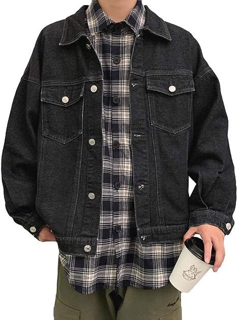 (BaLuoTe)デニムジャケット メンズ コート ジージャン 春 秋 ゆったり コート 韓国風 トップス ジャケット カジュアル シンプル アウター ファッション 快適 アウトドア