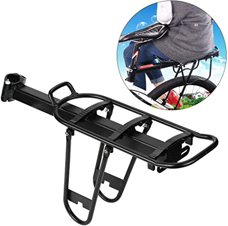 AYNEFY Portaequipajes Trasero para Bicicleta, Ajustable Carrier ...