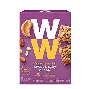 Weight Watchers 2015 Points Plus Sweet & Salty Toffee Twist Snack Bars