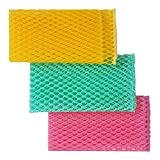 net cloth scrubber - Innovative Dish Washing Net Cloths / Scourer - 100% Odor Free / Quick Dry - No More Sponges with Mildew Smell - Perfect Scrubber for Washing Dishes - 11 by 11 inches - 3PCS - Yellow/Green/Pink