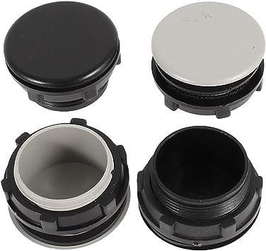 uxcell 3 Pcs 30mm Black Plastic Push Button Switch Hole Panel Plug