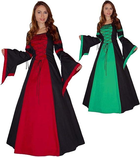 Burgfräulein Kostüm Mittelalter Kleid schwarz-rot M 38//40 Mittelalterkleid Damen