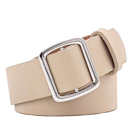 b0ef424424f WDOIT - Cinturón de Piel para Mujer, cinturón Ajustable con Hebilla,  cinturón de Cadera