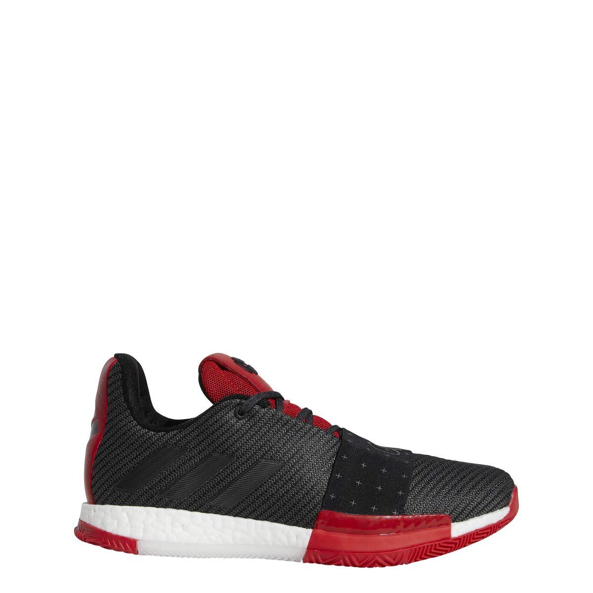 Image of adidas Harden Vol. 3 Shoe - Men's Basketball Core Black/Grey/Scarlet Basketball