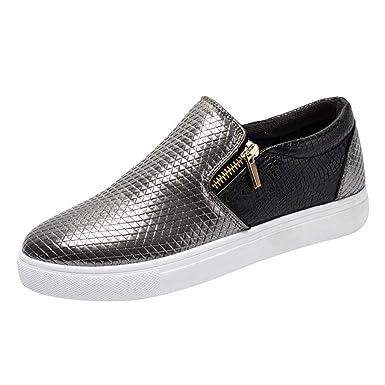 f79cd21e89576 BaZhaHei Sneakers Donna con Cerniera Fondo Piatto