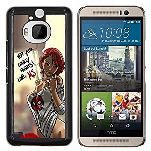 Dragon Case - FOR HTC One M9+ / M9 PLUS - sexy lingerie chick babe woman honey - Caja protectora de pl??stico duro de la cubierta Dise?¡Ào Slim Fit