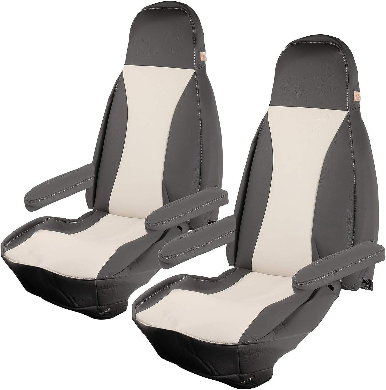 Maß Sitzbezüge Passend Für Fiat Ducato X250 X290 2012 2015 Beige Taupe Oder Beige Onyx Kunstleder 6tlg X250 Beige Onyx Auto