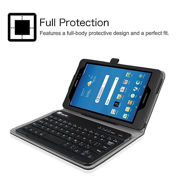 Amazon.com: Fintie at & T Trek 2 HD Keyboard Case, Negro ...