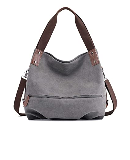 a3961380ea4fb Image Unavailable. Image not available for. Color  Zhoyea Durable Women s  Large Capacity Multipurpose Canvas Crossbody Shoulder Bag Tote ...