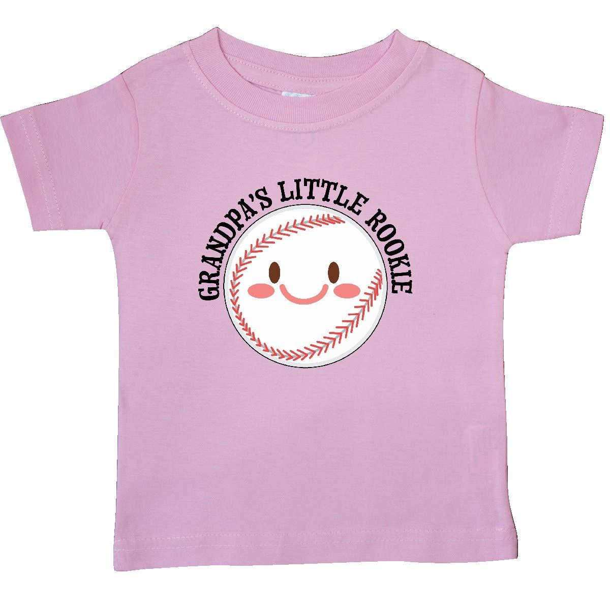 Baseball Baby T-Shirt inktastic Grandpas Little Rookie