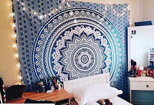Tapestry Exclusive Branded Ombre Tapestry By  Craft N Craft India   Indian Mandala Wall Art  Hippie Wall Hanging  Bohemian Bedspread