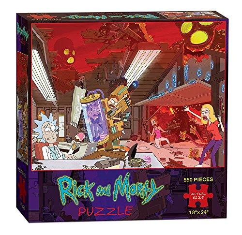 USAOPOLY Rick & Morty Puzzle (550 Piece), Multicolor