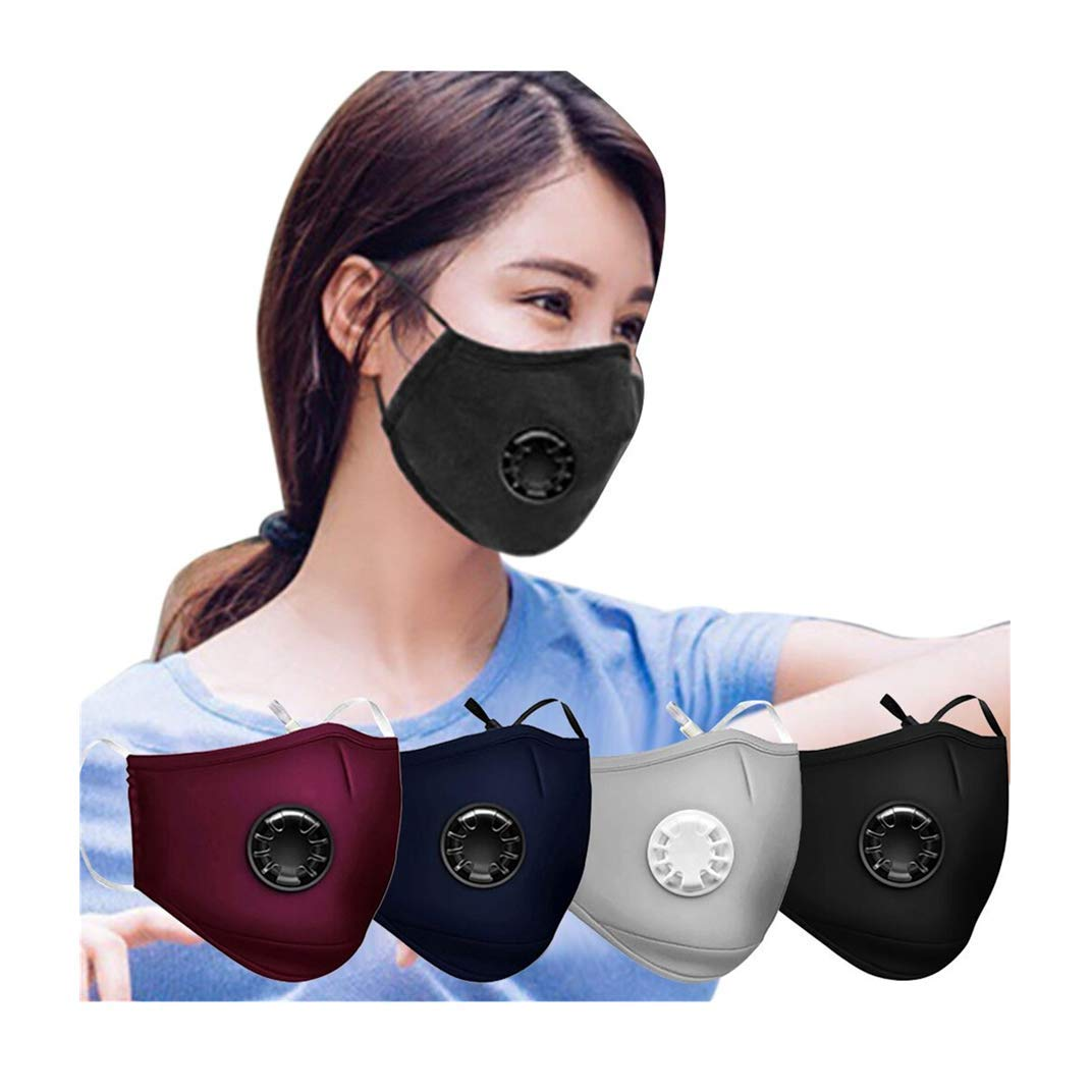 [US Stock] Face Mask Reusable Breathable Cotton Fabric Cloth Face Masks Washable for Protection by MASZONE