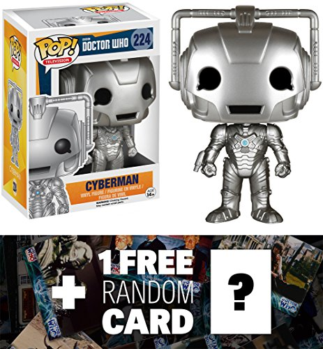 Cyberman: Funko POP! x Doctor Who Vinyl Figure + 1 FREE Official Dr Who Trading Card Bundle [46316]