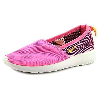 677fe3f5373f9 Nike Women s Roshe Run Slip 579826-601 Pink Glow Atomic Mango ...