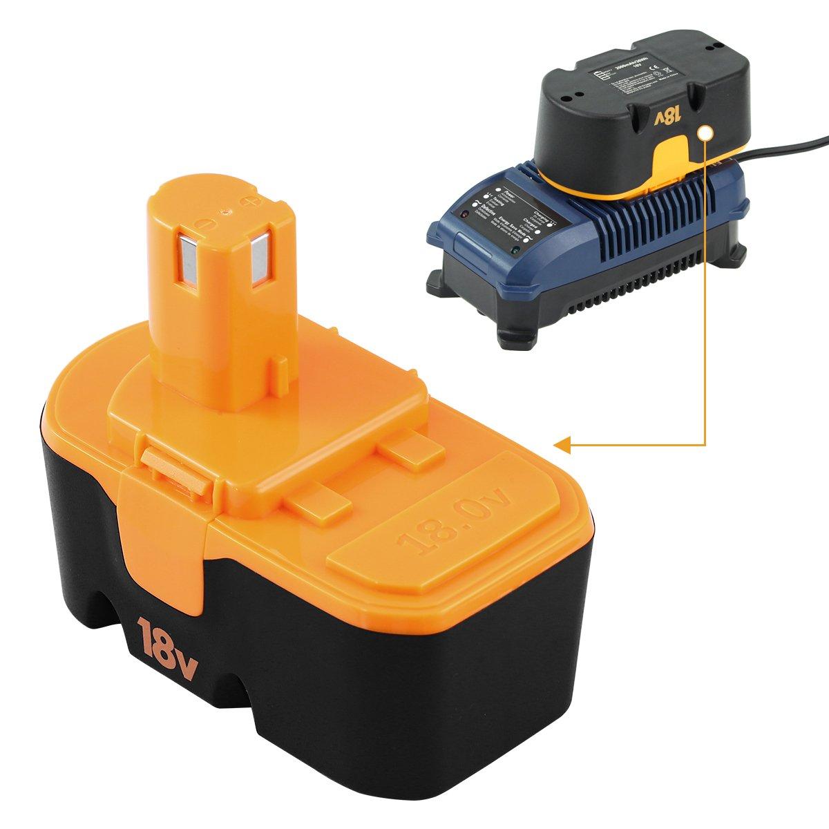 18V 3.0Ah Remplacement de la batterie Ni-Mh pour Ryobi ABP1801 ABP1803 BPP-1813 BPP-1815 BPP-1817 BPP-1817M BPP-1820 Outil /électrique sans fil