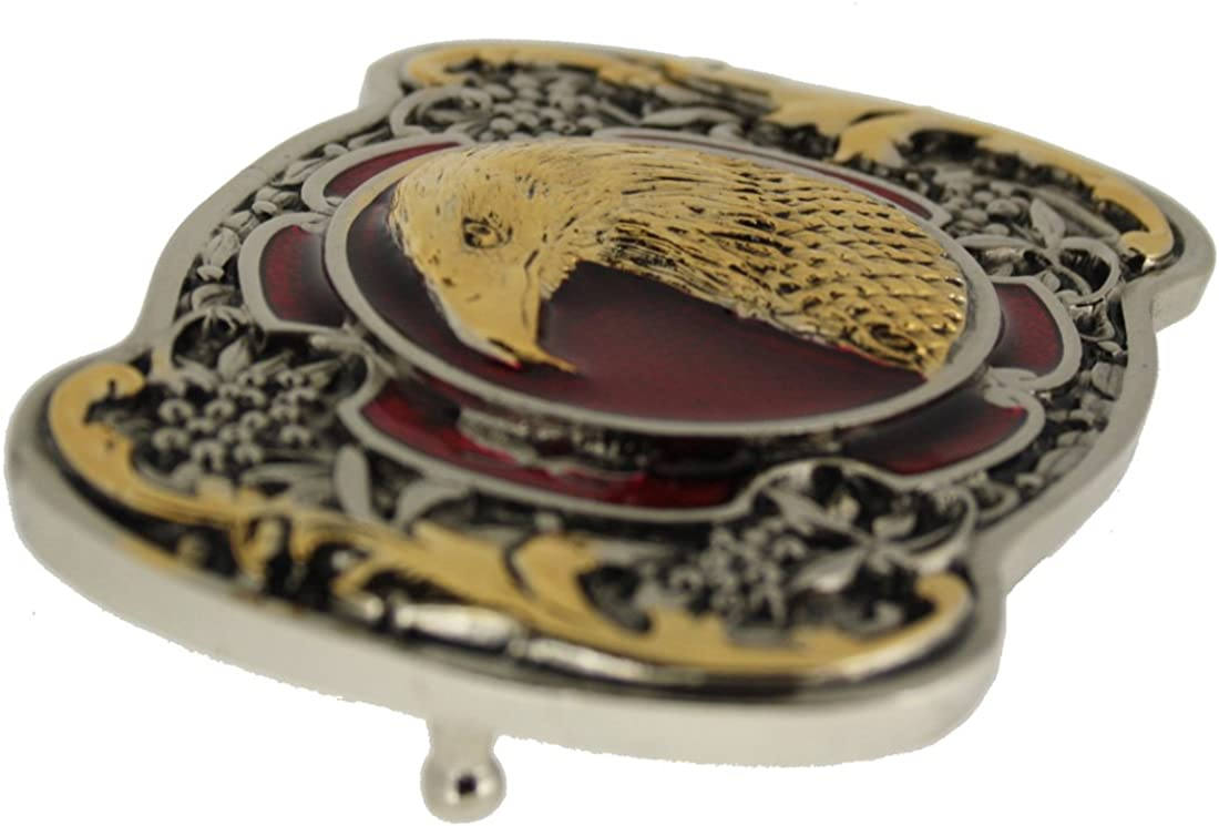 G//R Eagle Head Belt Buckle With Gold Plate Detailing Comes in one of my Presentation Boxes.