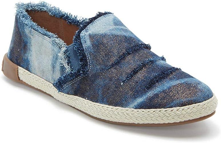 Adam Tucker Marin Navy Denim Slipon Sneaker Flat 7.5 M