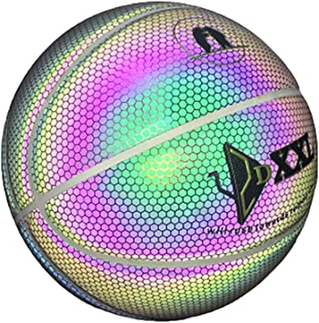 Glow in The Dark Basketball Outdoor Sport Gift Toy for Kids Boys sale/2019 Super Bright Reflective Night Game Glowing Street Basketball Gravere Luminous Basketball