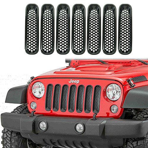 liteway-front-grill-mesh-grille-insert-kit-custom-3d-formed-for-jeep-jk-wrangler-2007-2015-black-7-p