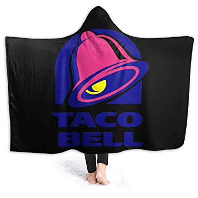 "Jocasa Taco Bell Hooded Blanket Flannel Fleece Lightweight Cozy Couch Bed Soft and Warm Plush Quilt for Thanksgiving, Halloween, 80""x60"" for Adults: Home & Kitchen"