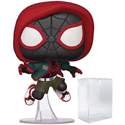 Marvel: Spider-Man Into The Spider-Verse - Casual Miles Morales (PX Previews Exclusive) Pop! Vinyl Figure (Includes Pop Box Protector Case): Toys & Games [5Bkhe1400495]