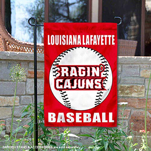 College Flags and Banners Co. UL Lafayette Ragin Cajuns Baseball Garden Flag (Hanging Outdoor Lafayette)