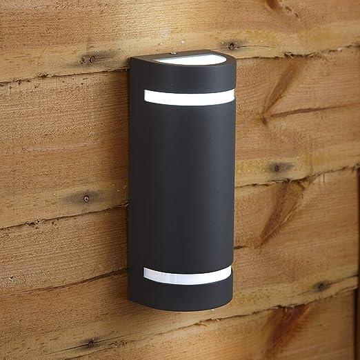 Biard Luz Exterior Gablitz Protección Impermeable IP54 Ideal para Jardín, Garaje y Puerta de Entrada - Moderna Lámpara de Seguridad de Pared de Instalación Sencilla GU10 - Gris Antracita: Amazon.es: Hogar