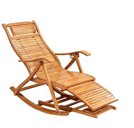 TongN-Sillones Sillón de Ocio Silla de bambú Lazy Plegable ...