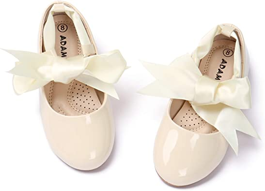 Kid Child Girls Princess Bowknot Shoes Wedding Formal Ballet Dance Dress Shoes