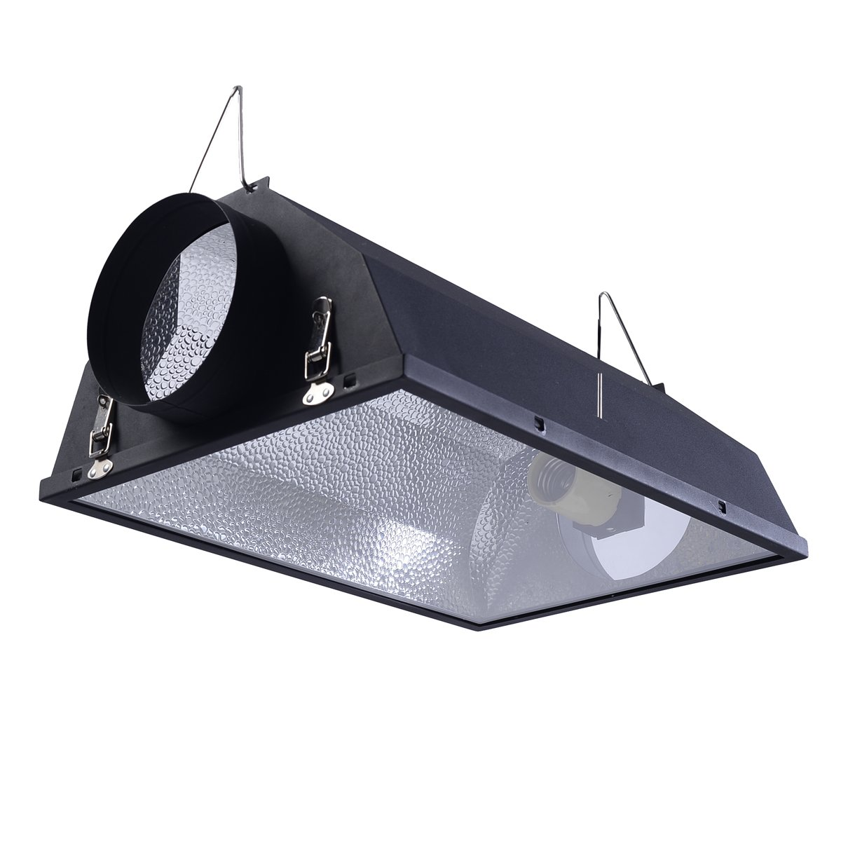 Giantex 6'' Air Cooled Hood Reflector Hydroponics Light Grow Hydroponic w/Glass Cover