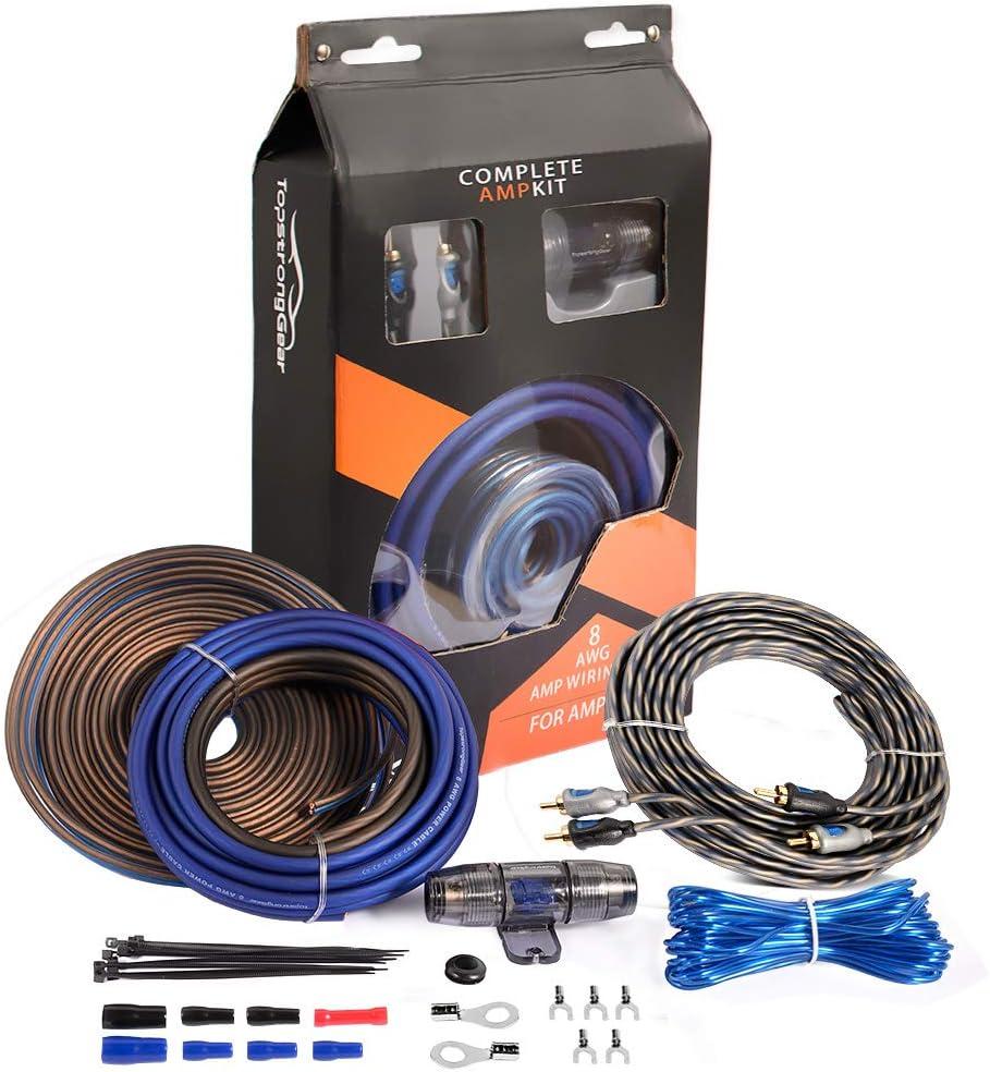 TopStrongGear 8 Gauge Complete Amp Kit