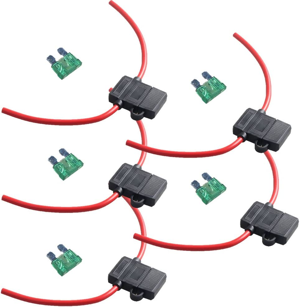 1 PACK with 10 Amp Fuse Blade Fuse In-Line Crimp Cable Fuse Holder Case
