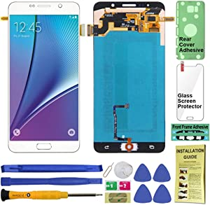Display Touch Screen (AMOLED) Digitier Assembly with Home Button for Samsung Galaxy Note 5 All Models (Unlocked) N920 N920A N920T N920V N920P N920R4 N920F (for Repair Replacement) (White Pearl)