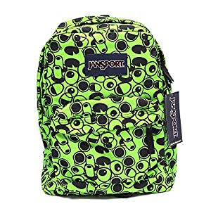 Jansport Superbreak Backpack, Zap Green/Double Vision
