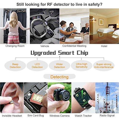 Eilimy Anti-spy Wireless RF Signal Detector Set [Upgrade Enhanced] Bug GPS Camera Signal Detector, for Detecting Hidden Camera GPS Tracker Wireless Signal Detector(Ultra-high Sensitivity) by Eilimy (Image #6)
