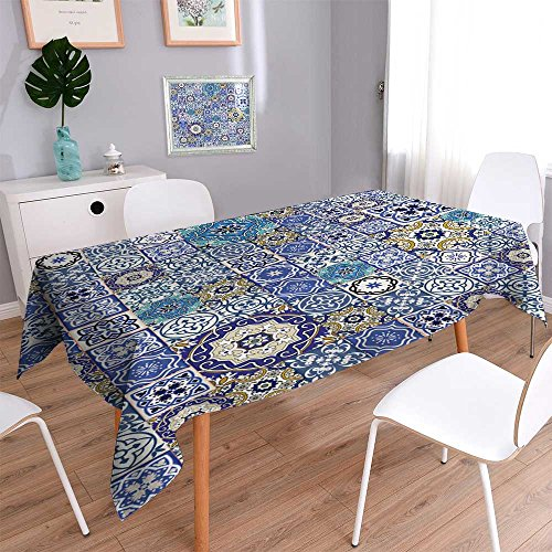 Water Resistant Tablecloth Mega Gorgeous seamless patchwork