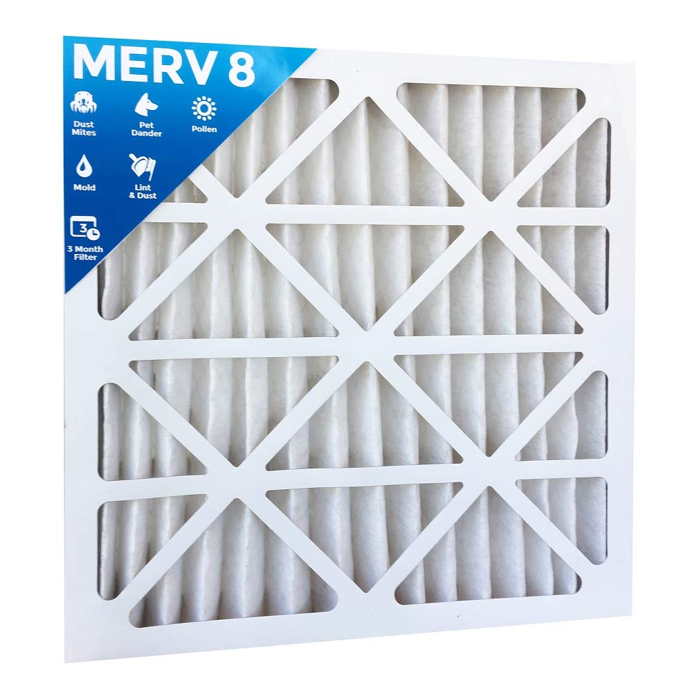 24x24x2 MERV 8 AC Furnace 2'' Inch Air Filter - 8 PACK by Filters Delivered