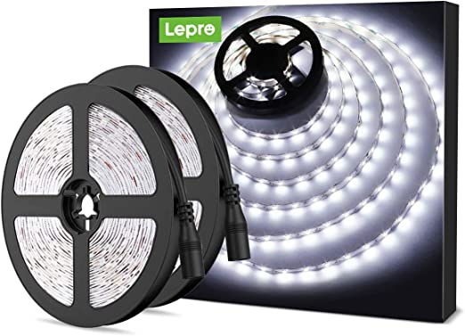ELINKUME/® Lumi/ères flexibles de bande de LED Non-/Étanche SMD 2835 LED Strip Light DC12V pour Chambre//Salon//Cuisine//Bar//Caf/é Ruban Lumineux LED Blanc chaud 10M