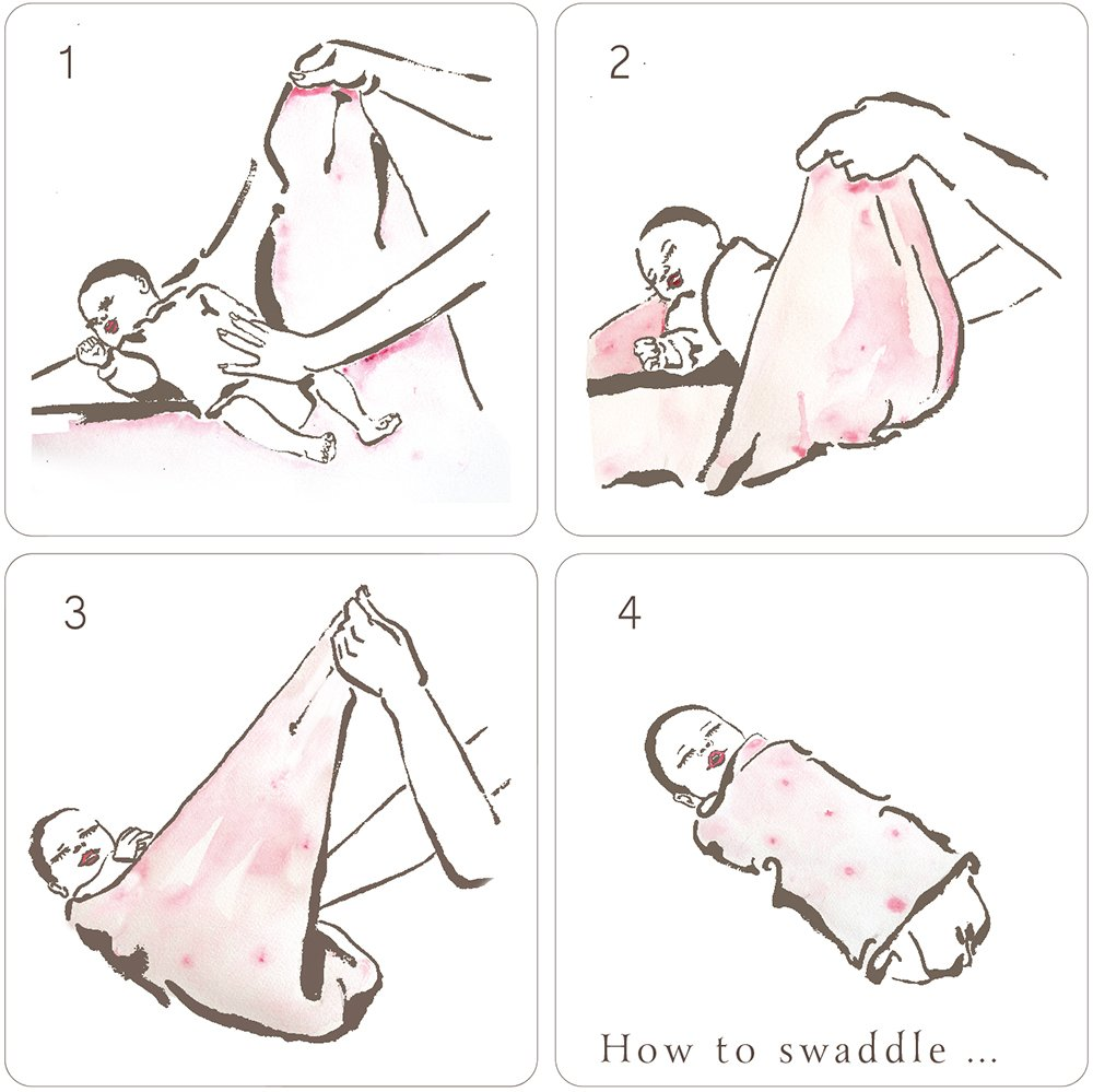 Unicornio estrella rosa 1 pack Manta de muselina para beb/é Aenne Baby regalo para beb/é reci/én nacida Grande 120 x 120 cm algod/ón de bamb/ú sedoso lujoso y suave