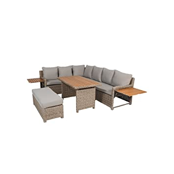 Amazon.de: greemotion 128512 Rattan Lounge Set Verona-Loungemöbel ...