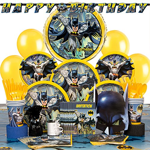 Deluxe Batman Party Supplies Kit for (Birthday Deluxe Party Kit)