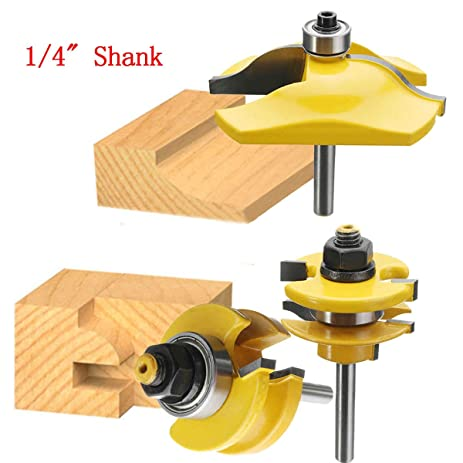 AccOED Raised Panel Cabinet Door Router Bit Set - 3 Bit Ogee - 1/4u0026quot  sc 1 st  Amazon.com : cabinet door router bit - Cheerinfomania.Com