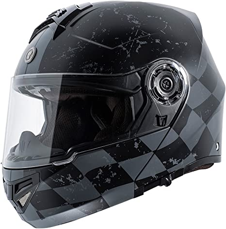 ,1 Pack LS2 Helmets Rapid Crypt Graphic unisex-adult full-face-helmet-style Full Face Helmet Matte Black,Medium