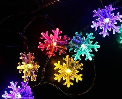 Amazon inngree snowflake solar string light 20 ft 30 led inngree snowflake solar string light 20 ft 30 led waterproof solar power string lights for parties aloadofball Gallery